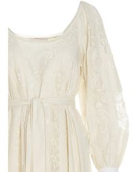 Tory Burch Beige Cotton Dress - Brown