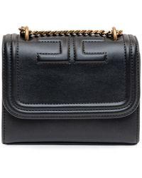 Elisabetta Franchi Logo Detail Shoulder Bag - Black
