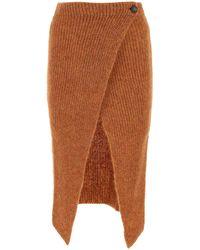 Alanui Illimani Ribbed-knit Skirt - Orange
