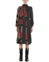 Junya Watanabe Belted Patchwork Dress - Black