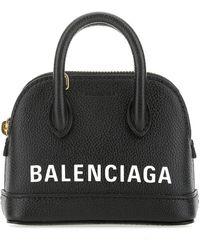 Balenciaga Ville Mini Top Handle Tote Bag - Black