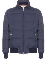 Brunello Cucinelli Zipped Down Jacket - Blue