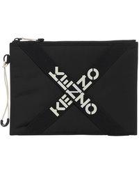 KENZO Sport Large Clutch Bag - Black