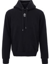 Dolce & Gabbana Dg Embroidery Hoodie - Black