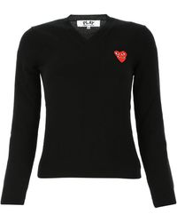 COMME DES GARÇONS PLAY Wool Sweater Donna - Black