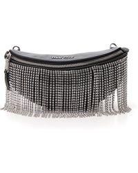 Miu Miu Embellished Belt Bag - Black