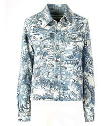 Off-White c/o Virgil Abloh - Tapestry Cropped Jacket - Lyst