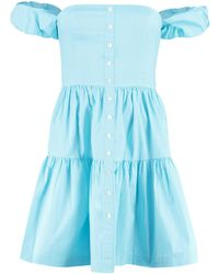 STAUD - Elio Off-shoulder Mini Dress - Lyst