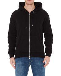 Balmain Drawstring Zipped Sweatshirt - Black