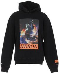 Heron Preston Graphic Print Hoodie - Black
