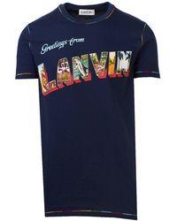Lanvin T-shirt Stampa Blu - Blue