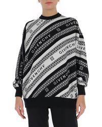 Givenchy Logo Jacquard Sweater - Black