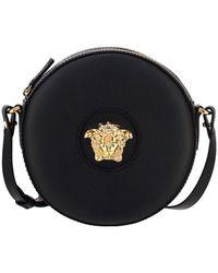 Versace Medusa Round Crossbody Bag - Black