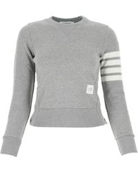 Thom Browne 4-bar Stripe Sweatshirt - Gray
