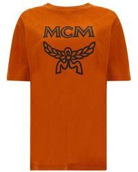 MCM Logo T-shirt - Orange