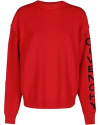 Givenchy Logo Knitted Jumper - Red