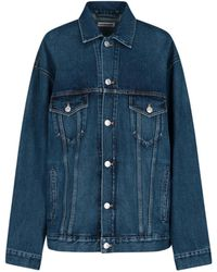 Balenciaga Oversize Denim Jacket - Blue