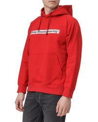 White Mountaineering Logo Patched Hoodie - Red