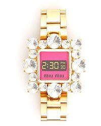 cfdedbc62407 Miu Miu - Bracelet With Crystals - Lyst