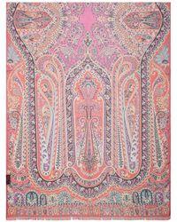 Etro Paisley Printed Scarf - Pink