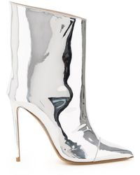 Alexandre Vauthier Alex 110 Pointed Toe Ankle Boots - Metallic