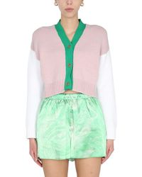 Opening Ceremony Cropped Cardigan - Green