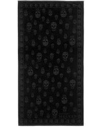 Alexander McQueen Skull Beach Towel - Black