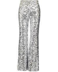 Halpern Metallic Sequin Pants