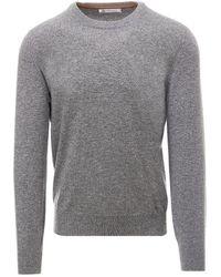 Brunello Cucinelli Crewneck Knitted Jumper - Grey