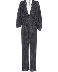 ROTATE BIRGER CHRISTENSEN Pleated V-neck Jumpsuit - Black
