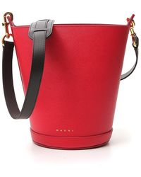 Marni Depot Bucket Bag - Red