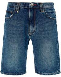 Philipp Plein Bermuda Shorts - Blue
