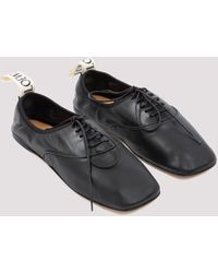 Loewe Lace-up Soft Derby Shoes - Black