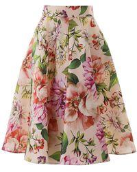 Dolce & Gabbana Dolce & Gabbana Midi Full Skirt - Red