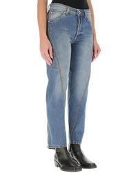 Lanvin Twisted Leg Denim Jeans - Blue