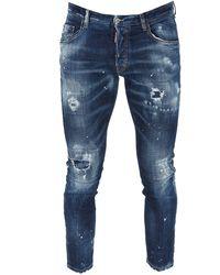 DSquared² Tidy Biker Jeans - Blue