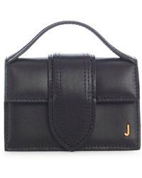 Jacquemus Le Bambino Leather Top Handle Bag - Black