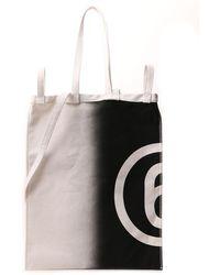 MM6 by Maison Martin Margiela Anatomic Printed Shopper Bag - Multicolour