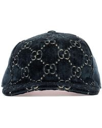 a536c8eb8ee67 Lyst - Gucci Deerskin Paperboy Cap in Black