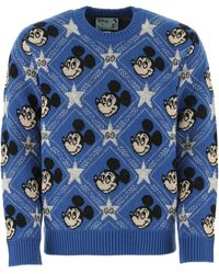 Gucci X Disney GG Mickey Mouse Sweater - Blue