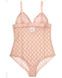 Gucci All Over GG Logo Bodysuit - Pink