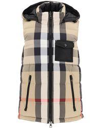 Burberry Reversibile Sleeveless Puffer Jacket - Natural