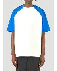 ADER error Contrast Sleeve T-shirt - White