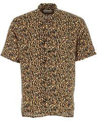 Saint Laurent Leopard Print Shirt - Multicolour