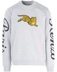 KENZO Embroidered Jumping Tiger Sweatshirt - White