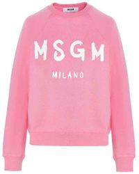 MSGM Cotton Sweatshirt - Pink