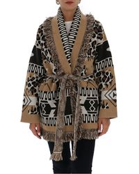 Alanui Patterned Belted Cardigan - Multicolour