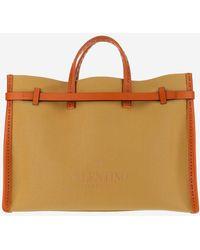 Valentino Logo Embossed Tote Bag - Multicolour