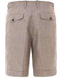 Z Zegna Straight Leg Bermuda Shorts - Natural