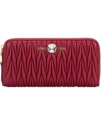 Miu Miu Matelassé Zipped Wallet - Red